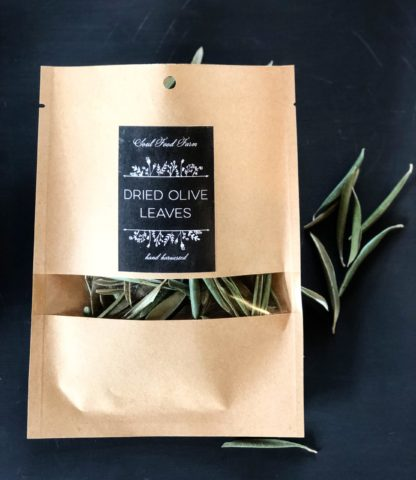 dried olive leaves package